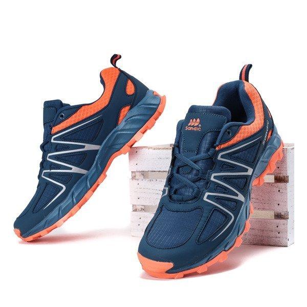 a58425695af30c Granatowo-pomarańczowe męskie buty sportowe Jonas - Obuwie