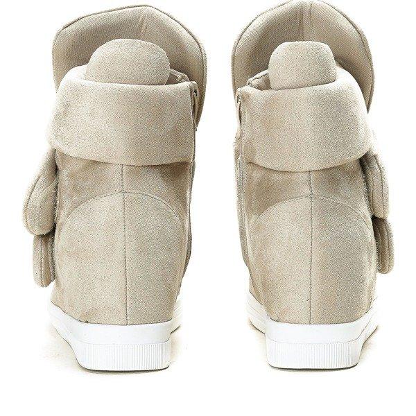 d433e35d0f074 Beżowe sneakersy na krytej koturnie Oh Little Girl - Obuwie - Beżowy ...