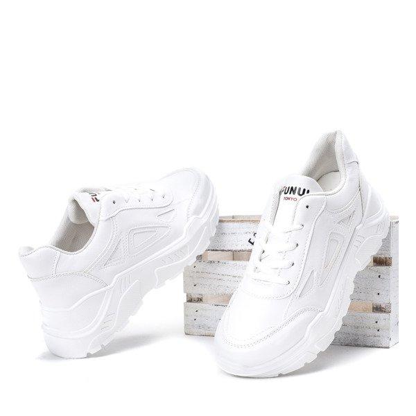 ded1dda0064ae5 Białe buty sportowe na grubej podeszwie Holly - Obuwie Kliknij, aby  powiększyć ...