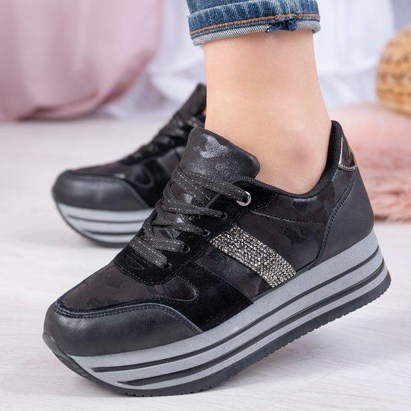 Czarne Buty Sportowe Na Platformie Joachima Obuwie Czarny Royalfashion Pl Sklep Z Butami Online