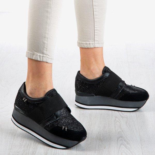 Czarne Damskie Buty Sportowe Na Platformie Erin Obuwie Czarny Royalfashion Pl Sklep Z Butami Online