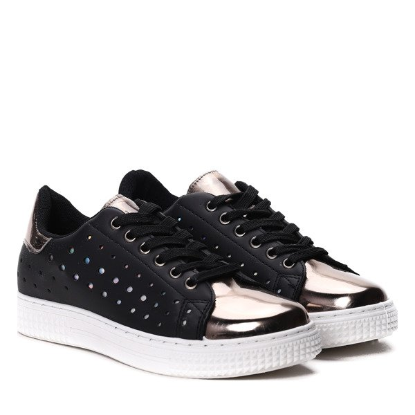 buty damskie czarno złote wiosna