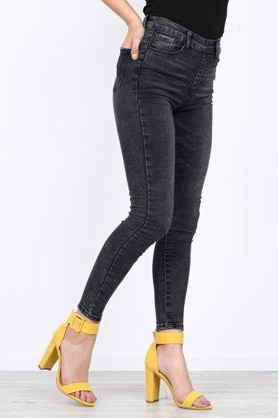 792ad85c1dae7 Długie, czarne jeansy z wysokim stanem Jenny- Spodnie ...