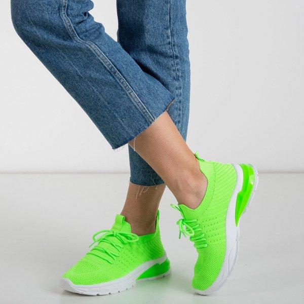 Neonowe Zielone Sportowe Buty Damskie Brighton Obuwie Zielony Neonowy Royalfashion Pl Sklep Z Butami Online