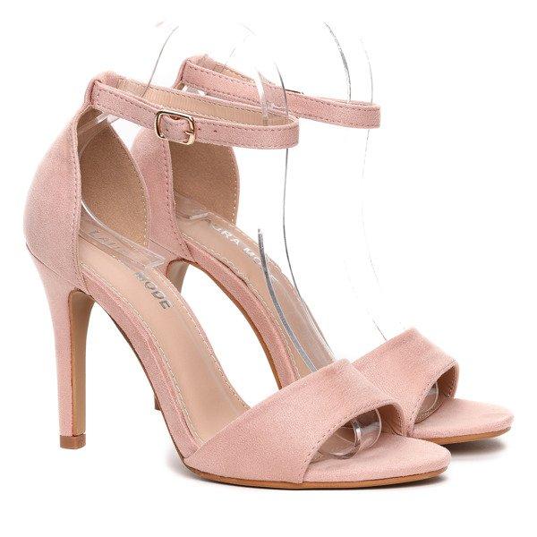 27c9466cb1972b Różowe sandałki na szpilce- Obuwie - Różowy   Royalfashion.pl ...
