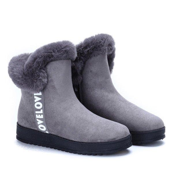 f31c9876bad31 Szare śniegowce Viola - Obuwie - | Royalfashion.pl - sklep z butami ...
