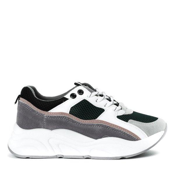 7995c4bf8c Zielone buty sportowe z kolorowymi wstawkami Osynea - Obuwie ...