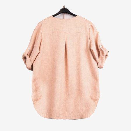 Beżowa damska tunika klasyczna - Odzież
