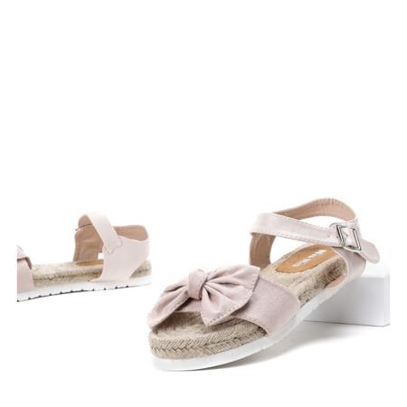 Beżowe sandały z kokardką Chicky - Obuwie