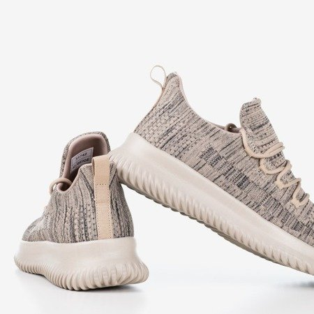 Beżowe sportowe buty męskie Yomeq - Obuwie