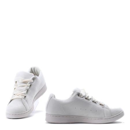 Beżowe, sportowe buty z kokardą Makenna - Obuwie