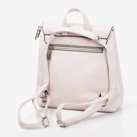 Beżowy mały plecak damski - Plecaki