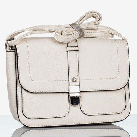 Biała mała torebka na ramię - Torebki