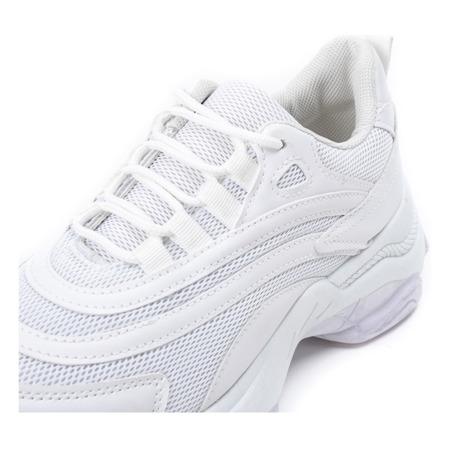 Białe buty sportowe na grubej podeszwie Alabama - Obuwie