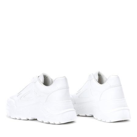 Białe buty sportowe na grubej podeszwie Holly - Obuwie