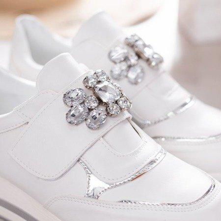 Białe buty sportowe na platformie Celassema - Obuwie