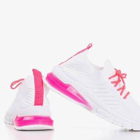 Białe buty sportowe z neonową wstawką Extrim - Obuwie