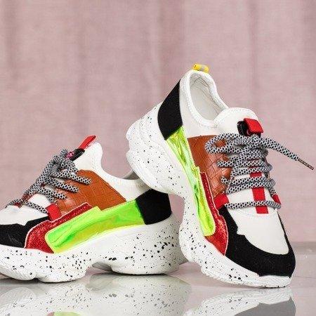 Białe buty ugly shoes na grubej podeszwie Tanya - Obuwie