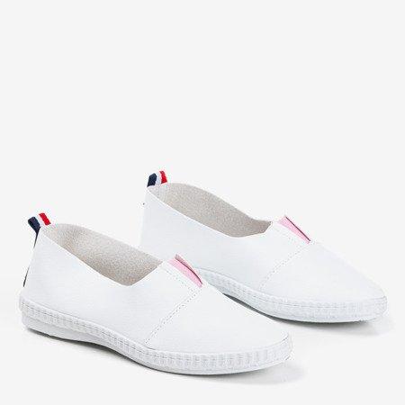 Białe damskie espadryle Tiulos - Obuwie