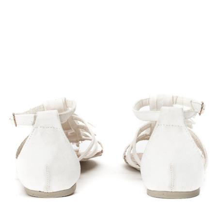 Białe sandały z frędzelkami Jowite - Obuwie