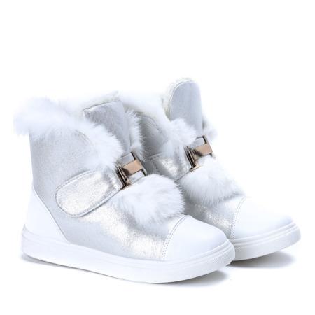 Białe śniegowce Beatrisa - Obuwie