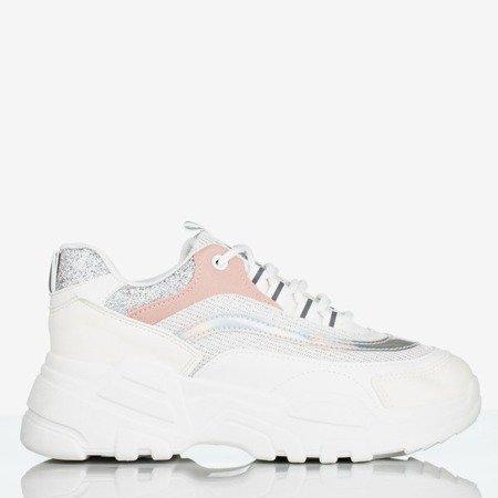 Białe sportowe buty damskie na platformie Seyoella - Obuwie