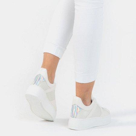 Białe sportowe buty na platformie Salsa - Obuwie