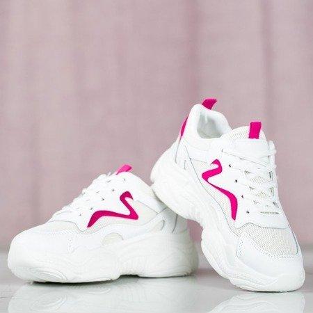 Białe sportowe buty z różową wstawką Miasea - Obuwie