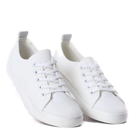 Białe, sportowe trampki Lorelai - Obuwie