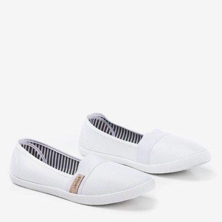 Białe tenisówki slip on Spoulia - Obuwie