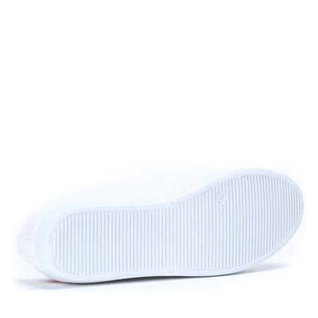 Białe tenisówki z haftem Gianna - Obuwie