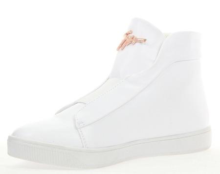Białe trampki z ozdobą - Obuwie