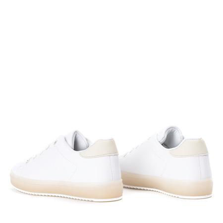 Biało - beżowe tenisówki Ivye - Obuwie