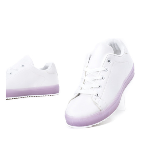 Biało - fioletowe tenisówki Robinson - Obuwie