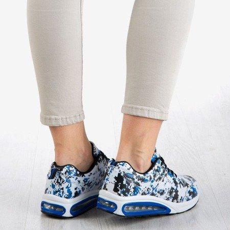 Biało-granatowe sportowe buty damskie Thalassa - Obuwie