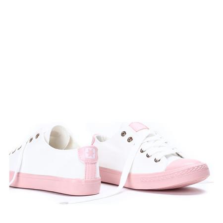 Biało-różowe trampki Pink Power - Obuwie