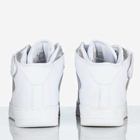 Biało - srebrne wysokie buty sportowe na platformie Tiny Dancer - Obuwie