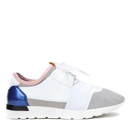 Biało - szare sportowe buty Jomix - Obuwie