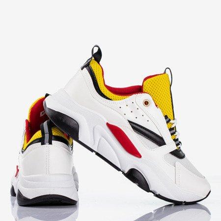 Biało-żółte sportowe buty damskie Punch Love - Obuwie