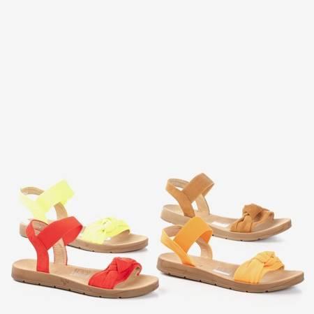 Brązowe damskie sandały Redish - Obuwie