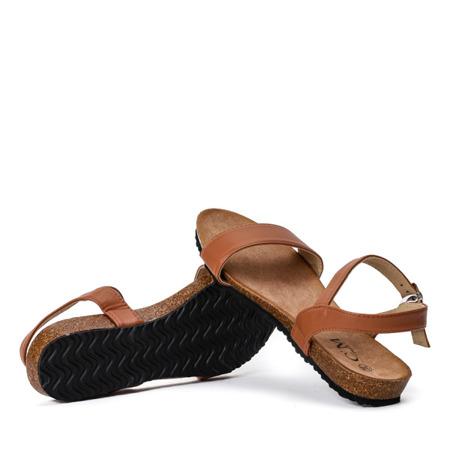 Brązowe klasyczne sandały Nita Obuwie