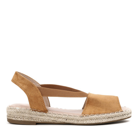 Brązowe sandały a'la espadryle Go Solo - Obuwie