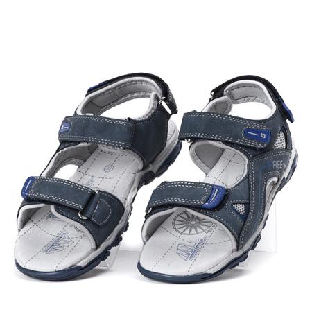 Chłopięce sandały w kolorze granatowym Louis - Obuwie