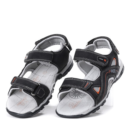 Chłopięce sandały w kolorze szarym Louis - Obuwie