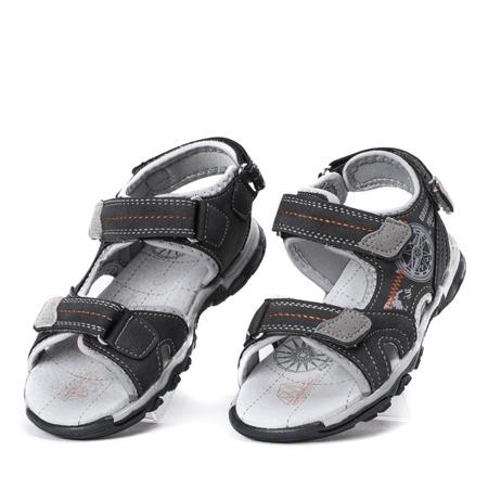 Chłopięce sandały w kolorze szarym Nathan - Obuwie