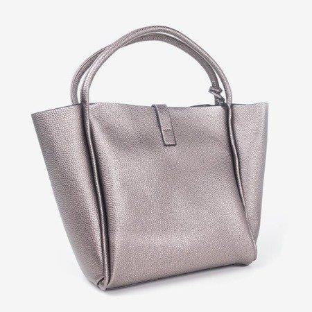 Ciemnoszara torba damska z frędzelkiem - Torebki