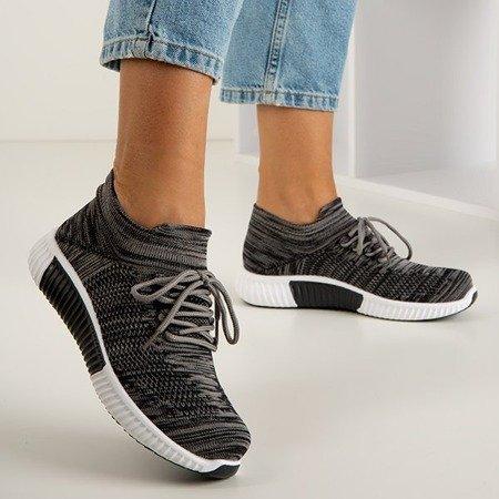 Ciemnoszare sportowe buty damskie Litia - Obuwie
