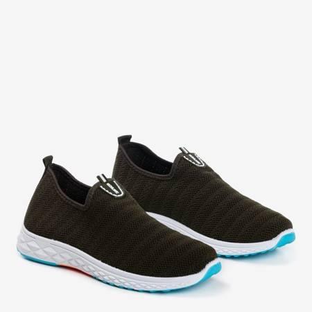 Ciemnozielone męskie sportowe buty slip - on Telfer- Obuwie