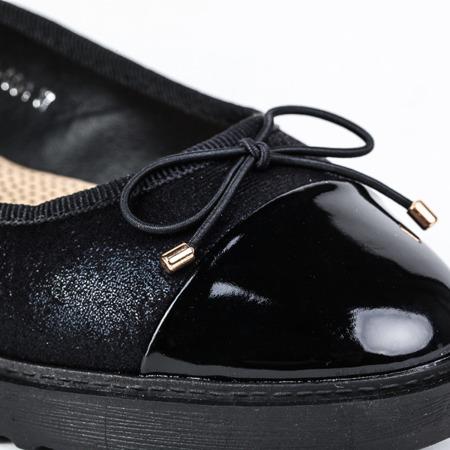 Czarne baleriny slip-on - Obuwie