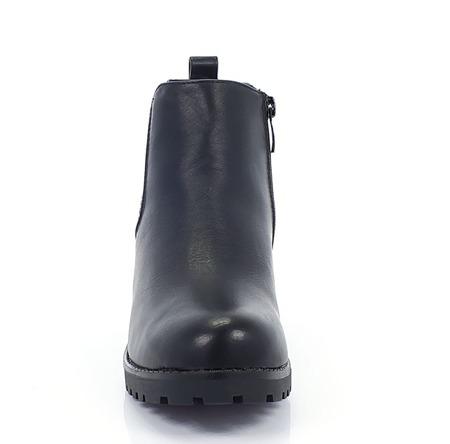 Czarne botki na platformie - Obuwie